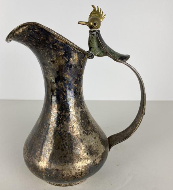5077 - Silver Mexican Water Jug
