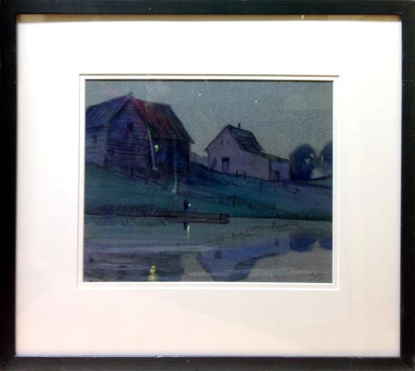 2214 - Buildings, St. Albert, Alberta by Llewellyn Petley-Jones (1908-1986)