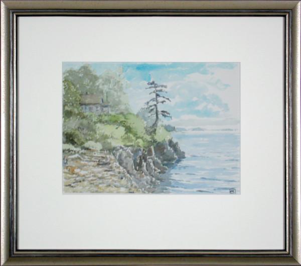 2263 - House on a Cliffside & Volkswagon Van on Saltspring Island by Michael Kluckner