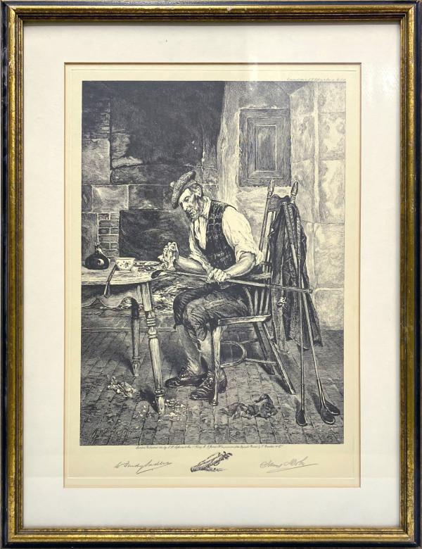 2272 - Untitled ( Golfer 1) by James Dobie ( 1849- c. 1923)