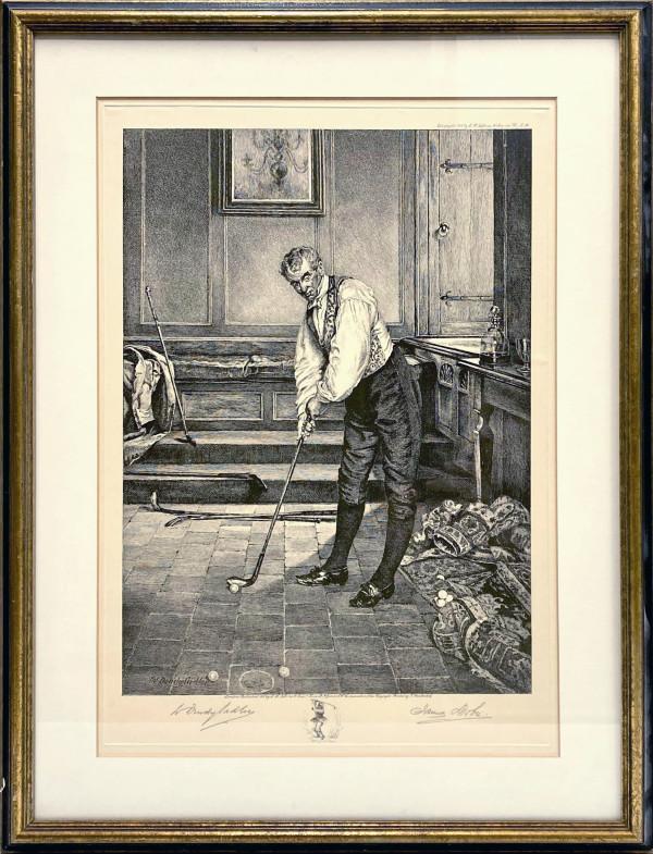 2273 - Untitled ( Golfer 2) by James Dobie ( 1849- c. 1923)