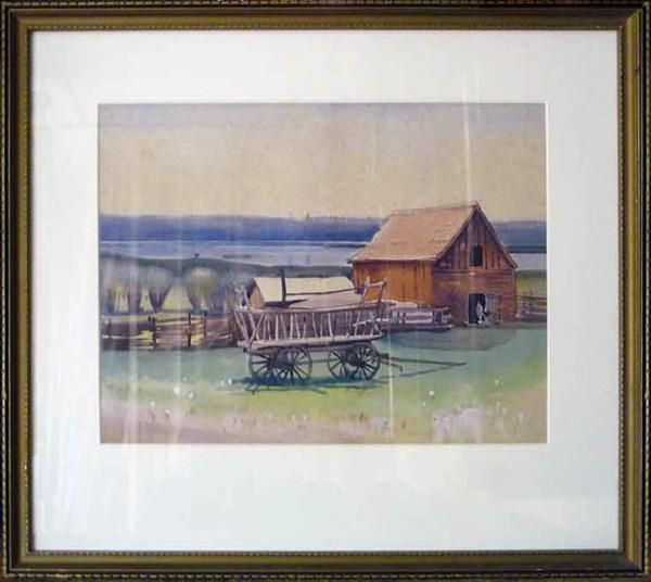 2307 - August 29th Barn Haystack by Llewellyn Petley-Jones (1908-1986)