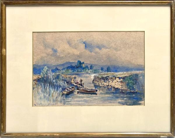 2314 - Boatmen by a River by Llewellyn Petley-Jones (1908-1986)