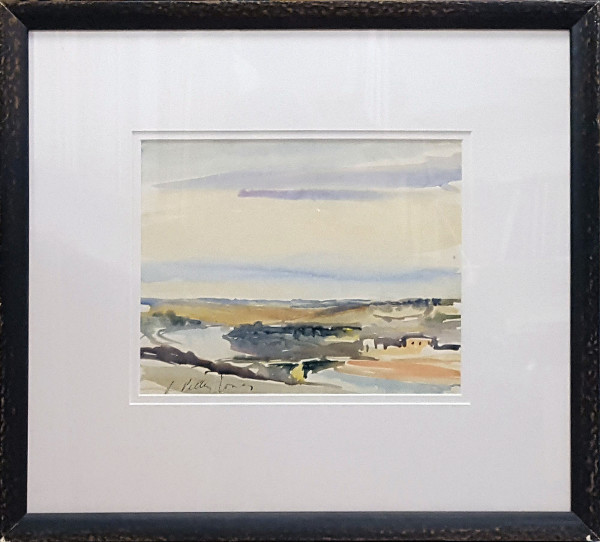 2327 - Evening Farm by Llewellyn Petley-Jones (1908-1986)