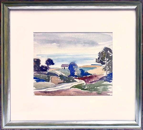 2372 - Untitled Farmyard by Llewellyn Petley-Jones (1908-1986)