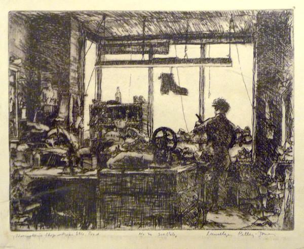 2593 - Shoemaker's Shop Friars Stile Road by Llewellyn Petley-Jones (1908-1986)