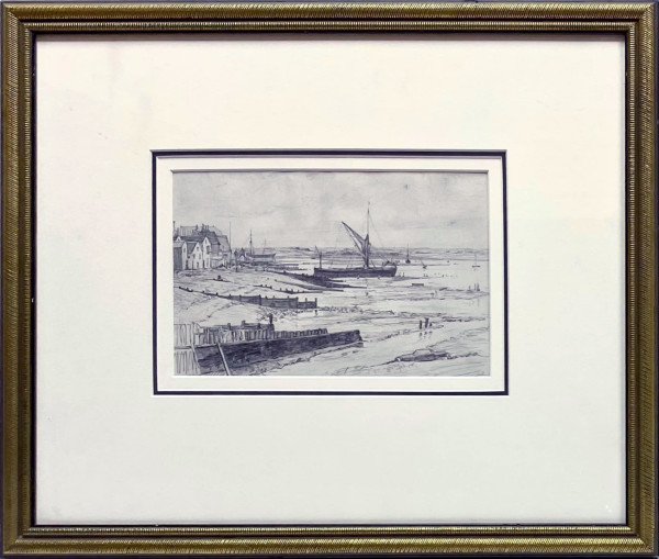 2625 - Untitled, Ships at Low Tide by H.M. Pemberton (1871-1957)