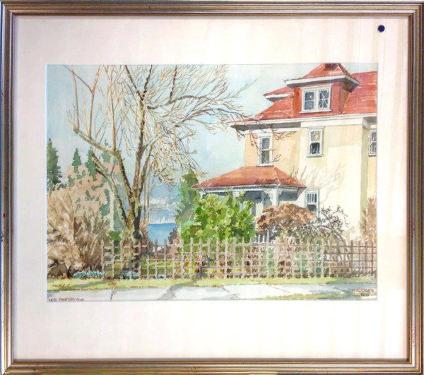 2646 - House on Pt. Grey Road by Michael Kluckner