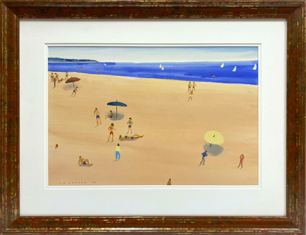 2651 - Untitled Beach Scene by Colin Graham ( 1915 - 2010)