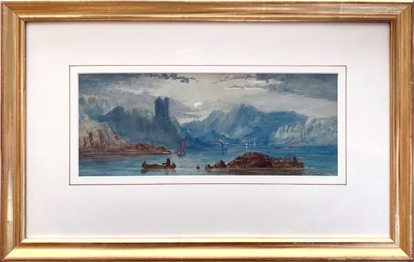 2666 - Evening Pacific Coast by Thomas Mower Martin O.S.A., R.C.A (1838-1934)