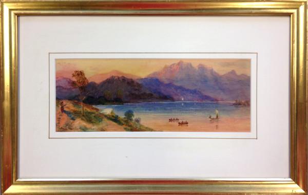 2667 - Pacific Coast Near Nelsons Island by Thomas Mower Martin O.S.A., R.C.A (1838-1934)