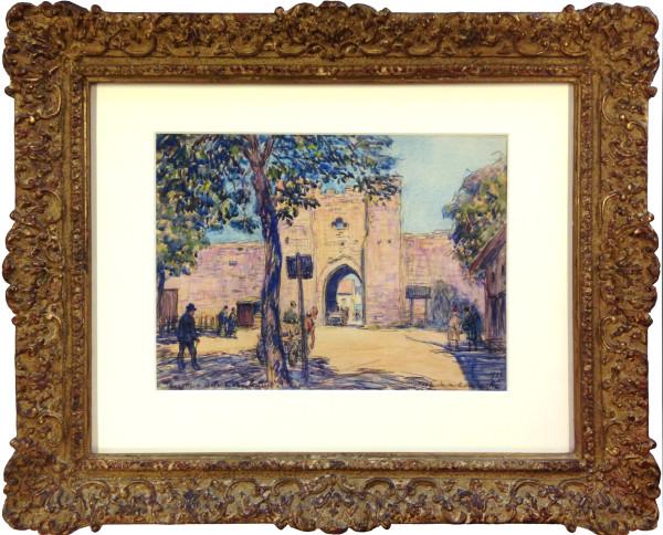 2669 - Southern Gate, Visby, Gotland by Frank  Armington (1876 - 1941)