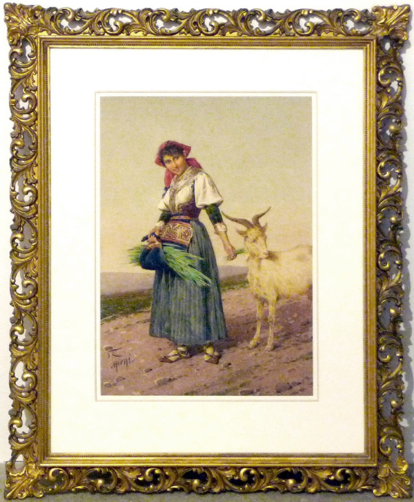 2699 - Peasant Woman by Filippo Indoni (1842 - 1908)