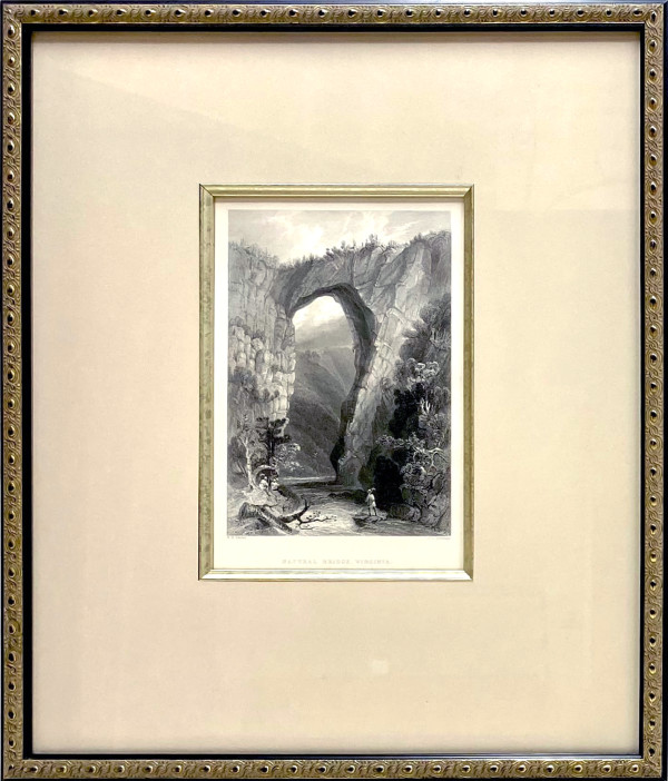 2760 - Natural Bridge, Virginia by W.H. (William Henry) Bartlett (1809-1854)