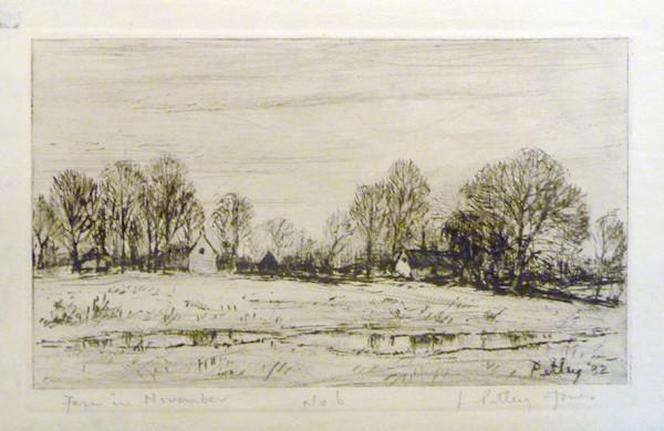 2903 - Farm in November No6 by Llewellyn Petley-Jones (1908-1986)