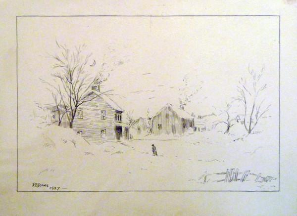 2906 - Untitled ( Edmonton) by Llewellyn Petley-Jones (1908-1986)