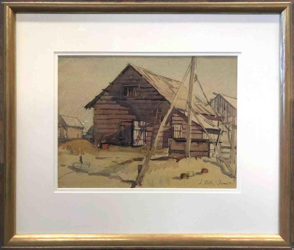 2911 -Old Barn by Llewellyn Petley-Jones (1908-1986)
