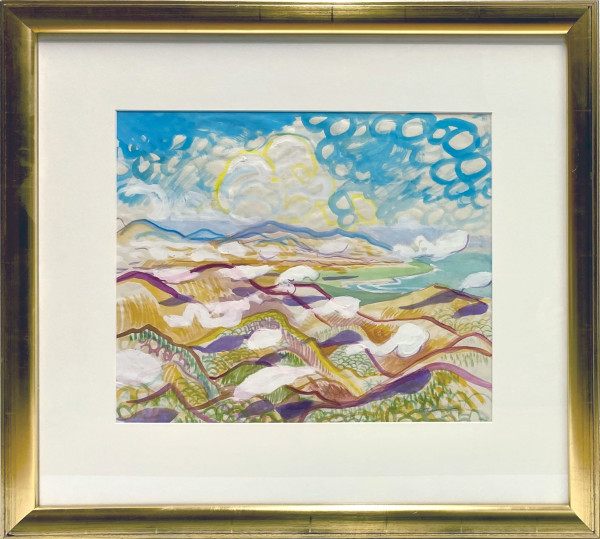 2960 - Colourful Dominican Landscape by Richard Ciccimarra (1924-1973)