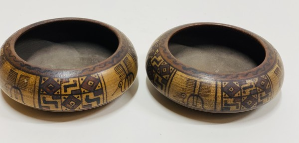 5035 - Peruvian Carved Wooden Bowl
