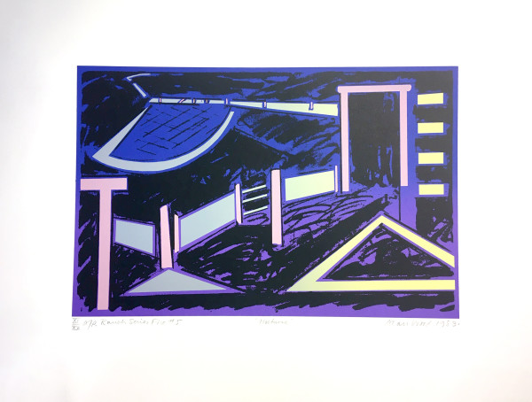 3018 - Ranch Series - Nocturne by Alan Wood (1935-2017)