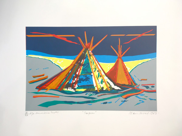 3023 - Ranch Series - TeePees by Alan Wood (1935-2017)