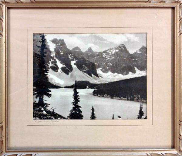 3049 - Moraine Lake (B/W) by Byron Harmon
