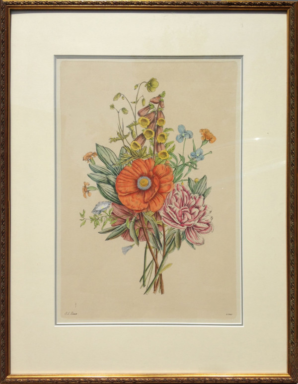 3058 - Botanical Print of Mixed Flowers II by Jean Louis Prévost (1760 - 1810)