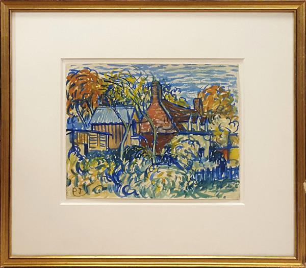 3076 - Cottages by Llewellyn Petley-Jones (1908-1986)