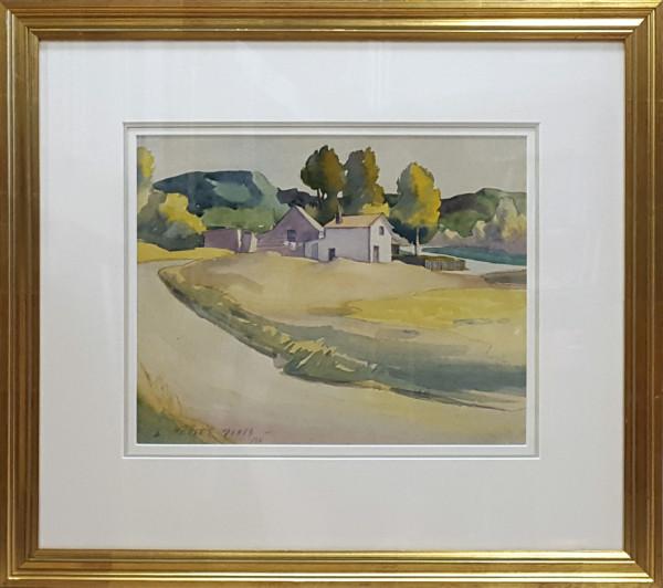 3077 -  Houses near Edmonton, 1932 by Llewellyn Petley-Jones (1908-1986)
