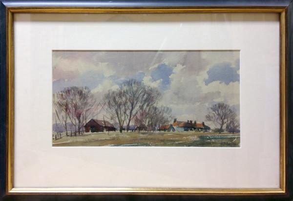 3085 - Farm in Richmond Park, 1970 by Llewellyn Petley-Jones (1908-1986)