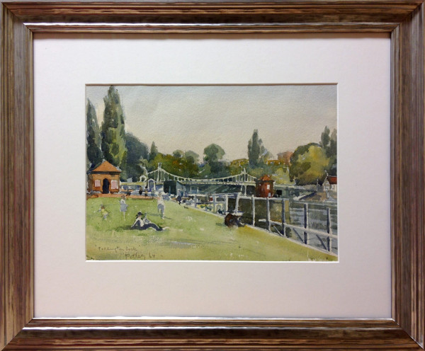3087 - Teddington Lock by Llewellyn Petley-Jones (1908-1986)
