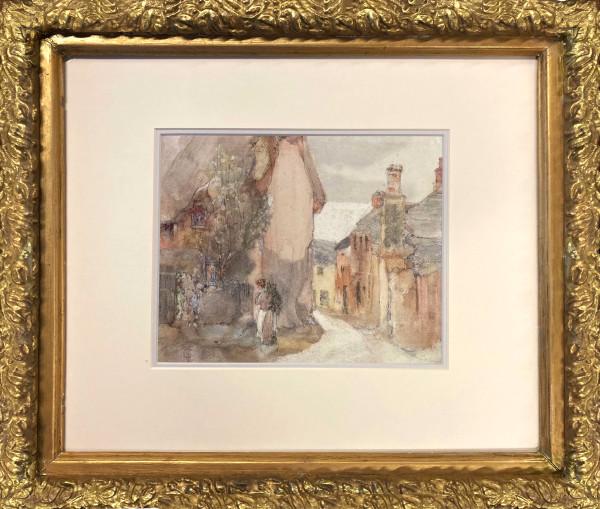 3105 -  Town Street by John Charles Collings (1848-1931)