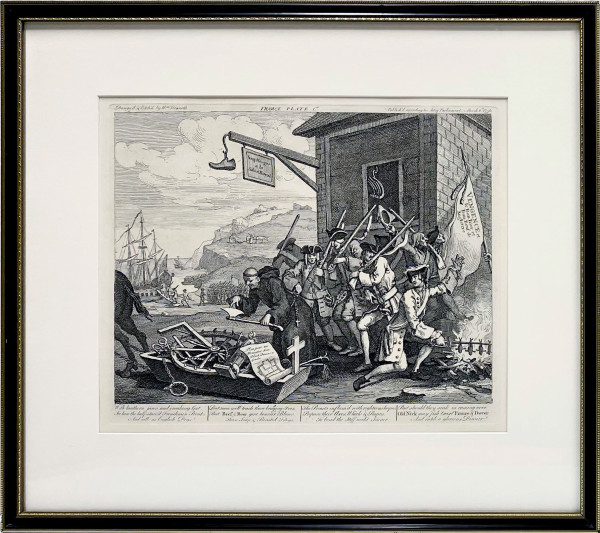 3219 - France, Plate 1 by William Hogarth (1697 – 1764)
