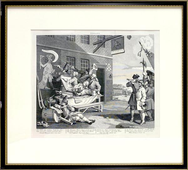 3220 - England, Plate II by William Hogarth (1697 – 1764)
