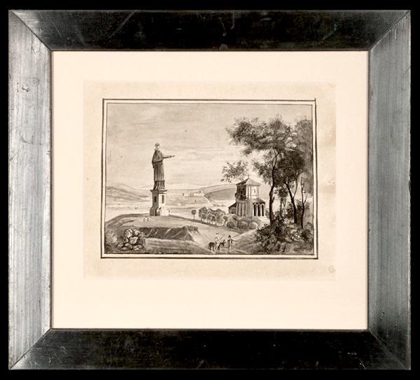 2102 - The Monument,  Statue of San Carlo Borromeo, Arona, Italy by Mme Fraymond