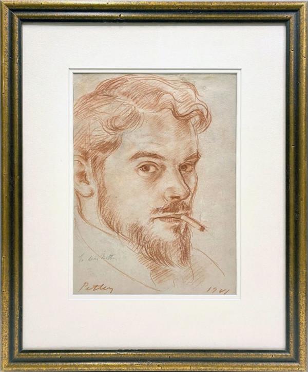 3465 - Self Portrait by Llewellyn Petley-Jones (1908-1986)