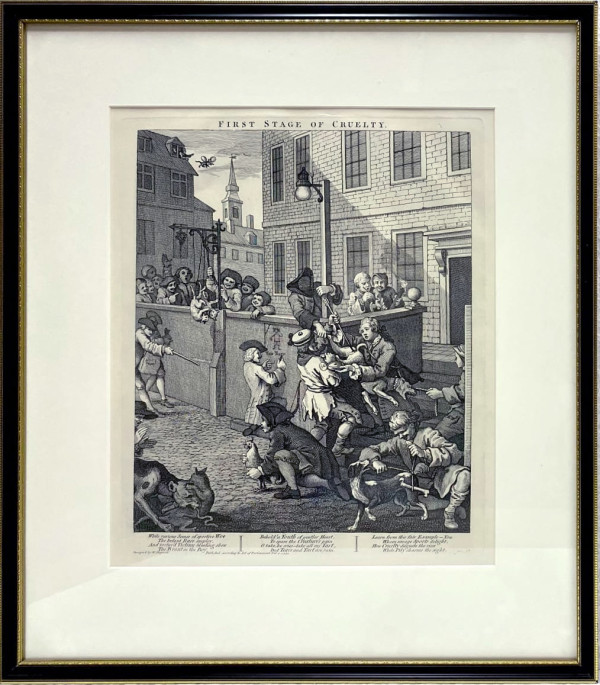3854 - First Stage of Cruelty by William Hogarth (1697 – 1764)