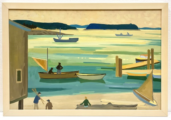 0366 - In the Gulf Islands by Colin Graham ( 1915 - 2010)