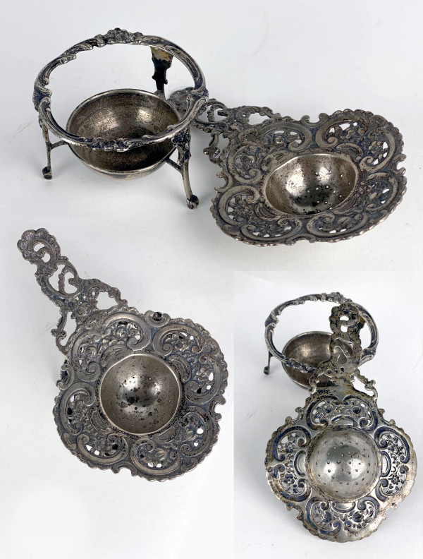 5091 - Persian Silver incense holder ( 2 pieces)
