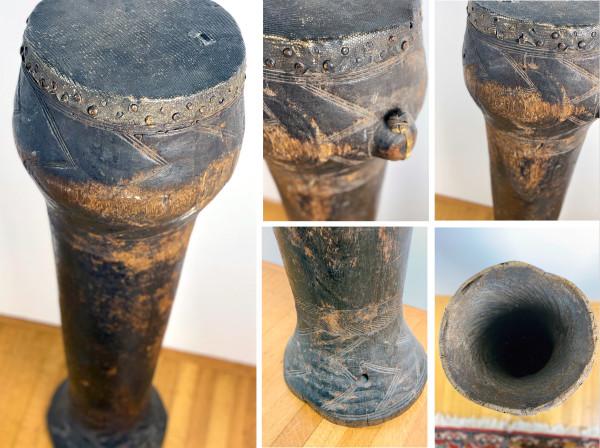 5098 - Antique Wooden Congo Drum
