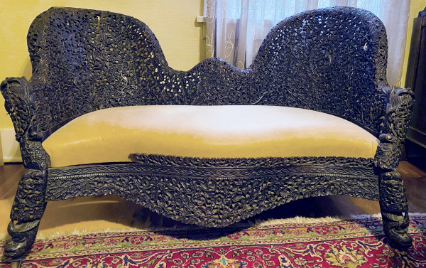 5186 - 19th Century Birmese Hand Carved Couch
