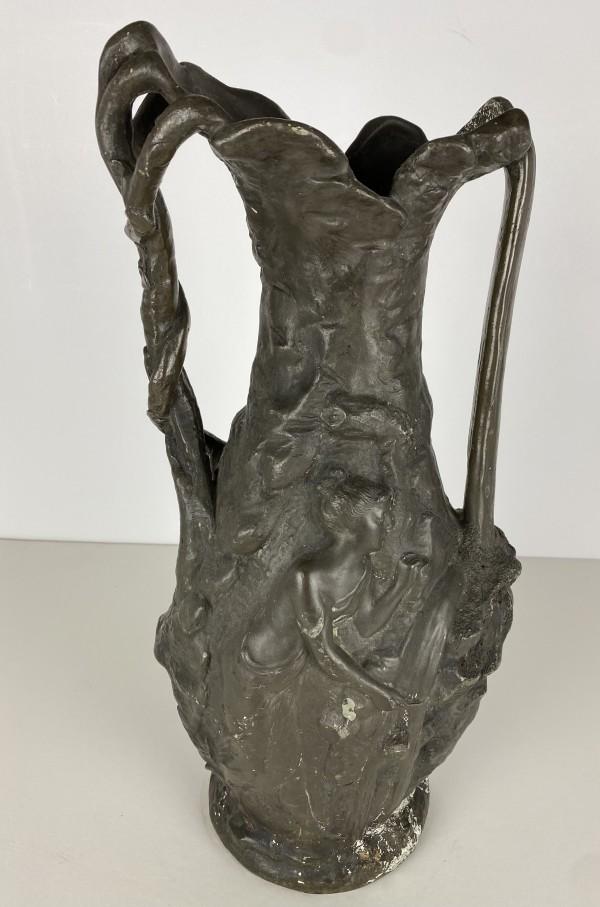 5087 - Art Nouveau metal Vase