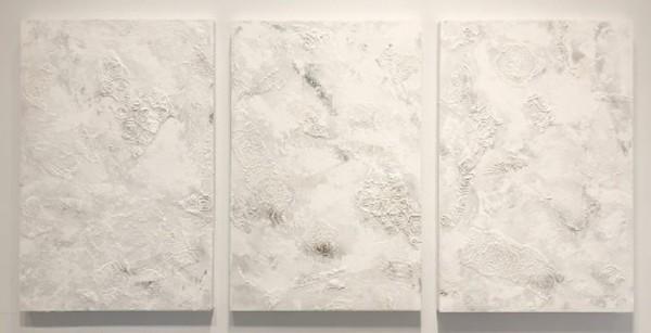 1132 - Anthropocene (3 Epochs)  (Triptych) by Barbara Arnold