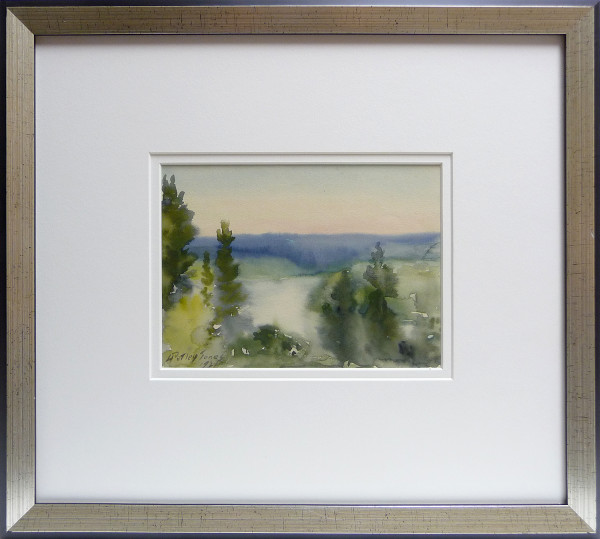 2308 - August Sunset on the Saskatchewan by Llewellyn Petley-Jones (1908-1986)