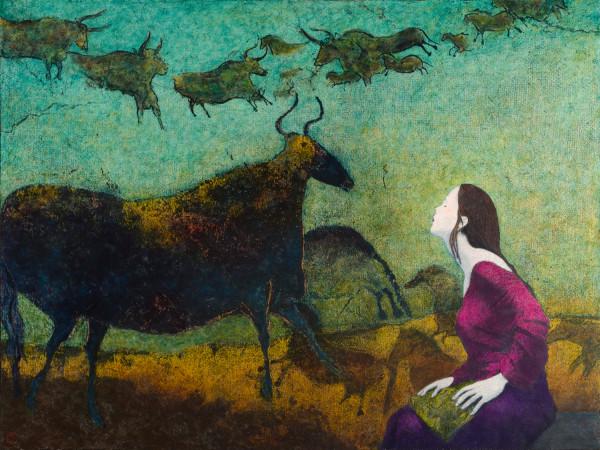 0727 - Lascaux-Auroch, Pilgrim Series by Duncan Regehr