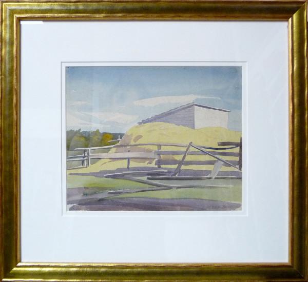 2305 - Aug 16, 1932 - Barn on the banks of Athabaska by Llewellyn Petley-Jones (1908-1986)
