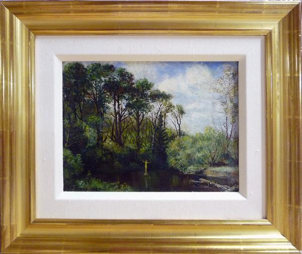 0208 - Bather, Whitemud Creek by Llewellyn Petley-Jones (1908-1986)
