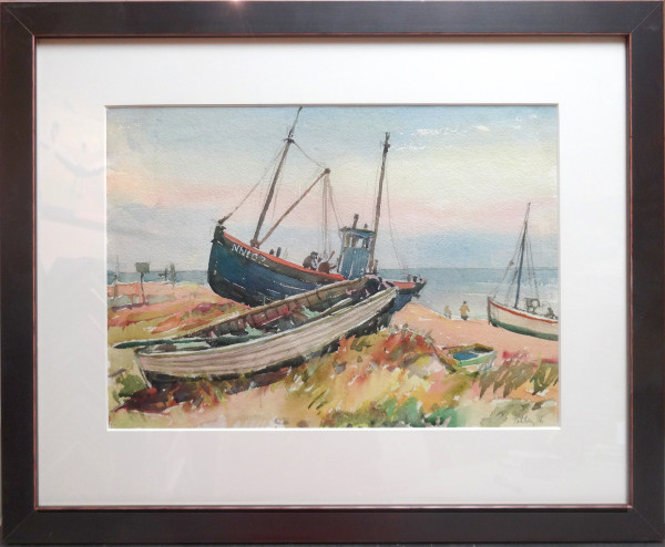 2426 - Boats on the beach NN102 by Llewellyn Petley-Jones (1908-1986)