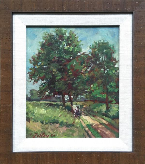 0214 - Bridgette Painting - Richmond Park by Llewellyn Petley-Jones (1908-1986)