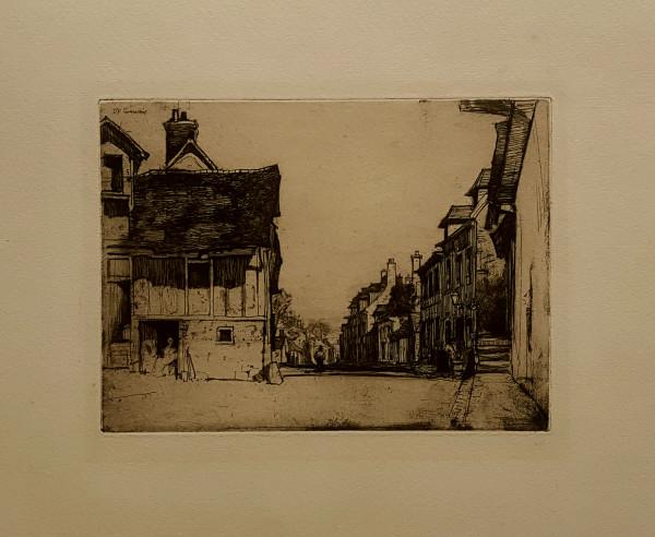 2444 - A Norman Village by David Young Cameron (1865-1945)